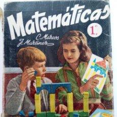 Libros de segunda mano: MATEMÁTICAS 1º - C. MARCOS Y J. MARTÍNEZ - EDICIONES SM. Lote 219217141