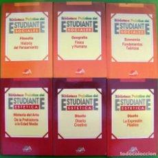 Libros de segunda mano: LOTE 6 - BIBLIOTECA PRACTICA DEL ESTUDIANTE (FILOSOFÍA - GEOGRAFIA - ECONOMIA - Hª DEL ARTE - DISEÑO. Lote 219453667
