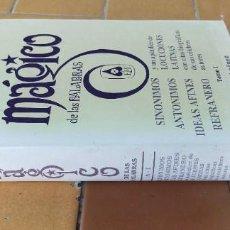 Libros de segunda mano: DICCIONARIO MAGICO DE LAS PALABRAS TOMO I SINONIMOS ANTONIMOS IDEAS AFINES REFRANERO C A GIMENEZ Ñ3. Lote 219909707