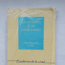 Libros de segunda mano: LA ESTRUCTURA DE LOS CONDICIONALES. PILAR CASTRILLO CRIADO. CUADERNOS DE LA UNED. TDK539. Lote 221710041