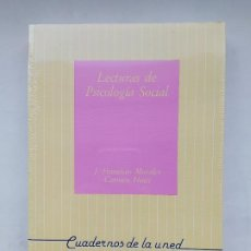 Libros de segunda mano: LECTURAS DE PSICOLOGÍA SOCIAL. CUADERNOS DE LA UNED. J. FRANCISCO Y CARMEN MORALES. TDK539. Lote 221710316