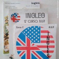 Libros de segunda mano: INGLÉS. BUP. 1, 2 Y 3. EDITORIAL LIBRERÍA GENERAL. MERCEDES FERNÁNDEZ SOLDEVILLA. 3 LIBROS ZARAGOZA.. Lote 221786362