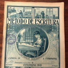 Libros de segunda mano: METODO DE ESCRITURA EN LETRA INGLESA POR UN GRUPO DE PROFESORES CALIGRAFOS. Nº 3 CARTAPACIO. Lote 221919997