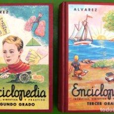 Libros de segunda mano: LOTE DE ENCICLOPEDIA ÁLVAREZ - SEGUNDO Y TERCER GRADO - CASI NUEVOS. Lote 221979098