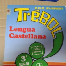Libros de segunda mano: LENGUA CASTELLANA. 3º E.G.B. CICLO MEDIO. EDITORIAL TREBOL. ROSA MARIA LOPEZ CASERO. Lote 222010045
