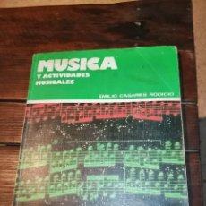 Libros de segunda mano: LIBRO DE MÚSICA 1 BUP EVEREST EMILIO CASARES RODICIO AÑOS 80. Lote 222278810