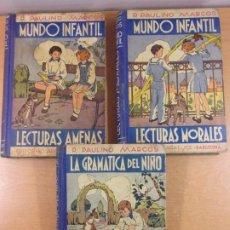 Libros de segunda mano: LECTURAS AMENAS, LECTURAS MORALES, LA GRAMATICA DEL NIÑO / P. PAULINO MARCOS / 1941. ARALUCE. Lote 222544527