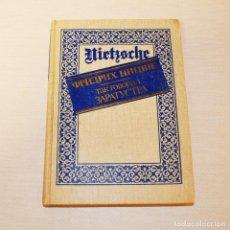 Libros de segunda mano: LIBRO ASÍ HABLÓ ZARATUSTRA.FRIEDRICH WILHELM NIETZSCHE. Lote 223517660