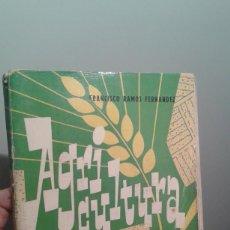 Libros de segunda mano: AGRICULTURA-FRANCISCO RAMOS FERNANDEZ 1960 TERCER CURSO. Lote 35220614
