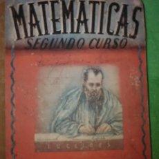 Libros de segunda mano: LIBRO DE MATEMÁTICAS SEGUNDO CURSO DEL AÑO 1939 247 PG , EDITORIAL LUIS VIVES. Lote 228362055