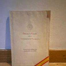Libros de segunda mano: DIPLOMA DE ESPAÑOL DE LA UNIVERSIDAD DE SALAMANCA TEXTOS DE EXÁMENES REALIZADOS EN 1988. Lote 228364870