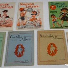 Libros de segunda mano: CARTILLAS ALBUM Y NUEVAS LETRAS LOTE DE 7-MUY BUEN ESTADO-IMPORTANTE LEER. Lote 230899875