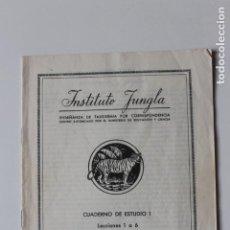 Livros em segunda mão: DISECACION DE AVES, DESUELLO, TAXIDERMIA, INSTITUTO JUNGLA, CUADERNO 1, 1960. Lote 231302915