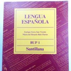 Libros de segunda mano: LENGUA ESPAÑOLA BUP 1 SANTILLANA (SIN USAR, DE DISTRIBUIDORA). Lote 293806093