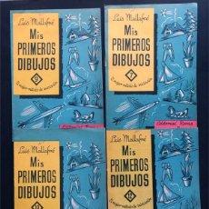 Libros de segunda mano: MIS PRIMEROS DIBUJOS ( CUADERNOS Nº 7-9-10-12 ) LUIS MALLAFRÉ / EDITORIAL ROMA AÑOS 1962 / SIN USAR. Lote 232981960
