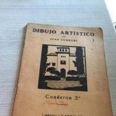 Libri di seconda mano: ANTIGUO LIBRO DIBUJO ARTÍSTICO POR JUAN CURRUBI CUADERNO 2 BARCELONA. Lote 233184945