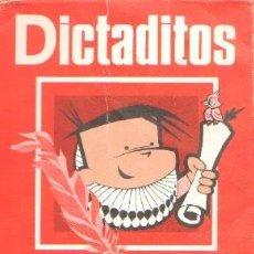 Livres d'occasion: DICTADITOS. 1º Y 2º CURSO. PASCUAL MARTINEZ, A. A-ESC-1778. Lote 236132555