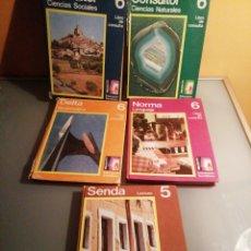 Libros de segunda mano: LOTE 5 LIBROS E. G. B. SANTILLANA, MADRID. Lote 236215720
