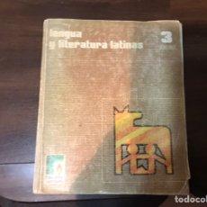 Libros de segunda mano: LENGUA Y LITERATURA LATINAS. 3º BACHILLERATO. ANTONIO HOLGADO. SANTILLANA. Lote 236223370