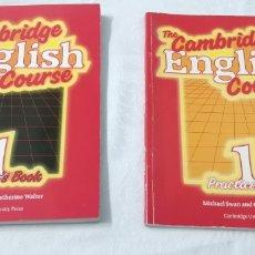Libros de segunda mano: CAMBRIDGE ENGLISH COURSE 1. STUDENT'S BOOK AND PRACTICE BOOK. MICHAEL SWAM. 1985.. Lote 236782180
