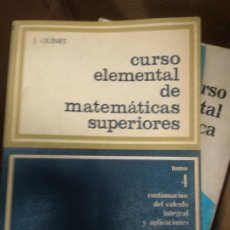 Libri di seconda mano: CURSO ELEMENTAL DE MATEMÁTICAS SUPERIORES. 4. J. QUIRET.. Lote 236924490