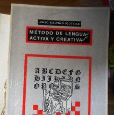 Libros de segunda mano: JULIO CALVIÑO IGLESIAS. MÉTODO DE LENGUA ACTIVA Y CREATIVA. LIBRERÍA ÁGORA.. Lote 238223035