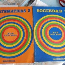 Livres d'occasion: MATEMATICAS Y SOCIEDAD 3 EGB SANTILLANA EL PRECIO ES POR 1 LIBRO. 1983. Lote 239950185