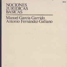Libros de segunda mano: NOCIONES JURIDICAS BASICAS DE MANUEL GARCIA Y ANTONIO FERNÁNDEZ. CURSO DE ACCESO A LA UNED. Lote 240678380