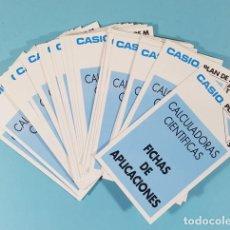 Libros de segunda mano: 30 FICHAS APLICACIONES CALCULADORAS CIENTIFICAS CASIO PLAN DE MATES 10 X 6 CM FX82 FX180P FX3900. Lote 243898475