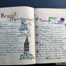 Libros de segunda mano: CUADERNO DE ESCUELA AÑO 1957 / MUY ILUSTRADO CON DIBUJOS / 50 PÁGINAS. Lote 244550440