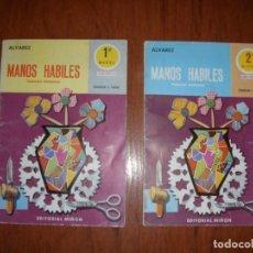 Libros de segunda mano: LOTE DE DOS LIBROS MANOS HÁBILES ED MIÑON 1º Y 2º NIVEL ÁLVAREZ. Lote 244894880