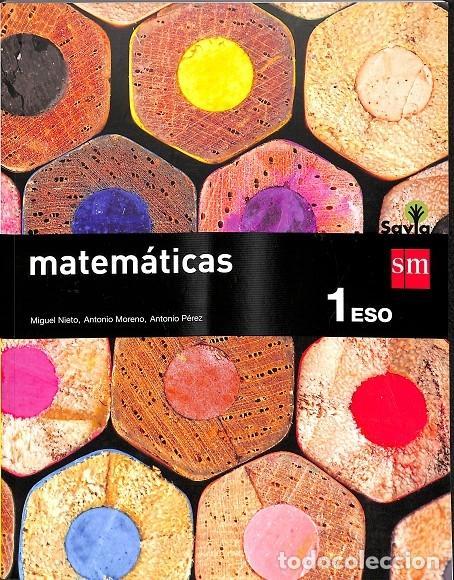 MATEMÁTICAS. 1 ESO. SAVIA (Libros de Segunda Mano - Libros de Texto )