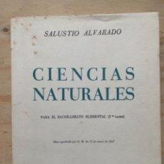 Libros de segunda mano: CIENCIAS NATURALES, PARA EL BACHILLERATO ELEMENTAL (BOLS 1). Lote 244992200