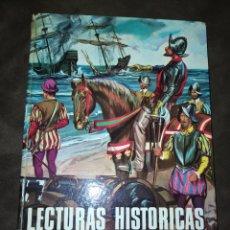 Libros de segunda mano: LECTURAS HISTÓRICAS. LIBRO DE LECTURA PARA LOS NIVELES 5, 6 Y 7. EDITORIAL S. M. AÑO 1971. CARTONÉ.. Lote 245102945