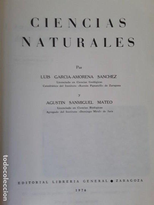 Libros de segunda mano: Ciencias naturales. Ed. Librería general 1976. 1° bup - Foto 3 - 244908075