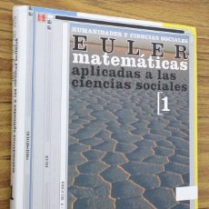 Libros de segunda mano: MATEMATICAS APLICADAS A LAS CIENCIAS SOCIALES 1 - HUMANIDADES Y CIENCIAS SOCIALES EULER. Lote 246373300