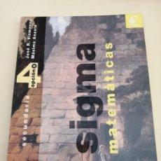 Livros em segunda mão: MATEMÁTICAS 4 SECUNDARIA. SIGMA.. Lote 247710260