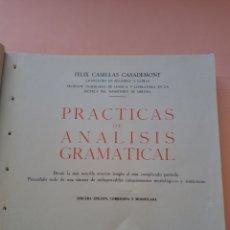 Libros de segunda mano: 1961 PRACTICAS DE ANALISIS GRAMATICAL, CUBIERTA ARTESANAL, 3° ED.CORREGIDA Y MODIFICADA. Lote 247949425