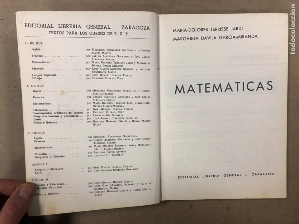Libros de segunda mano: MATEMÁTICAS CURSO 1ª BUP. VV.AA. EDITORIAL LIBRERÍA GENERAL 1979. - Foto 2 - 248186275