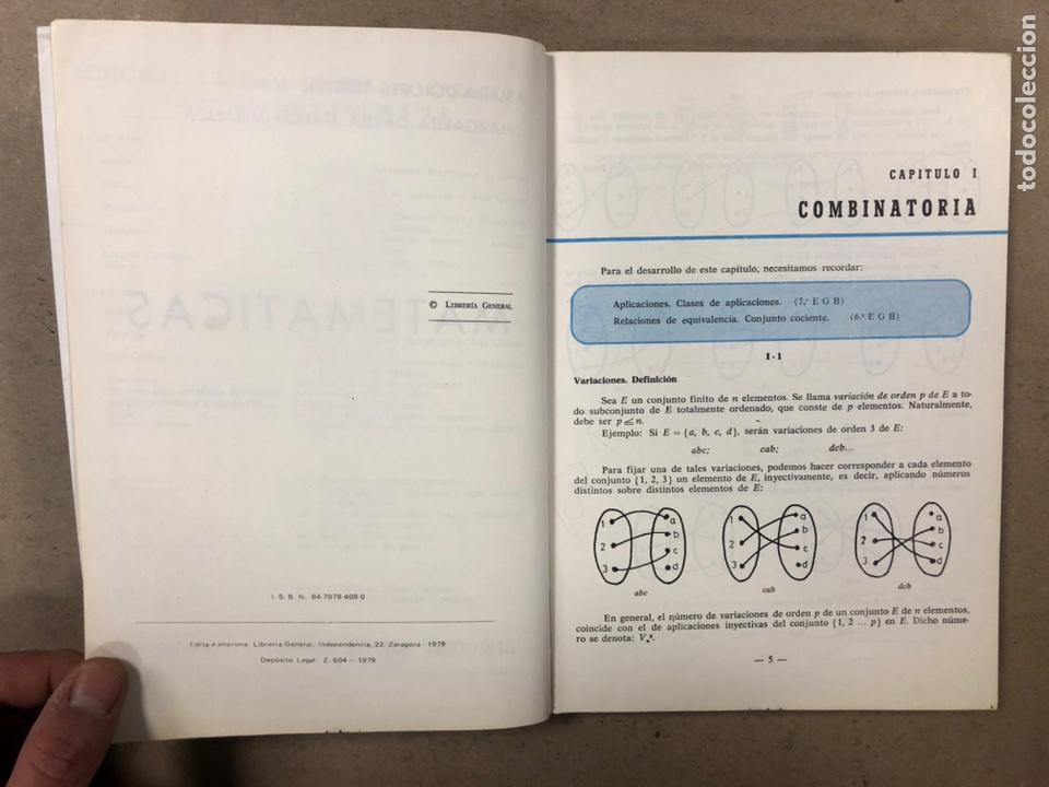 Libros de segunda mano: MATEMÁTICAS CURSO 1ª BUP. VV.AA. EDITORIAL LIBRERÍA GENERAL 1979. - Foto 3 - 248186275