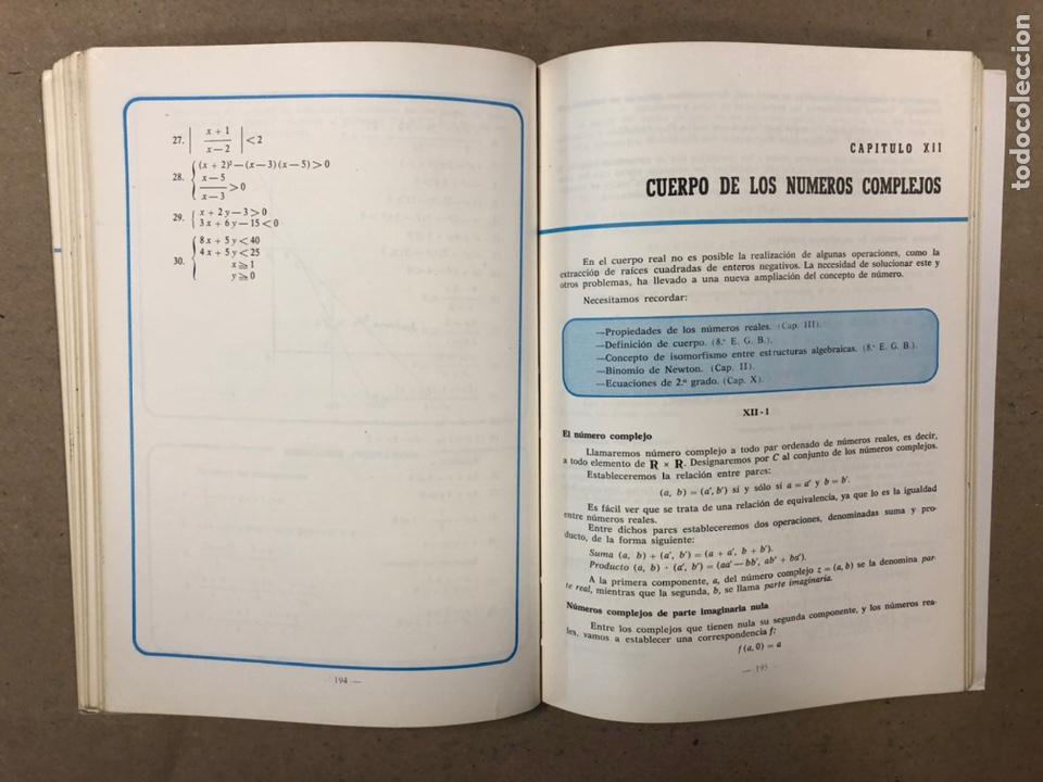 Libros de segunda mano: MATEMÁTICAS CURSO 1ª BUP. VV.AA. EDITORIAL LIBRERÍA GENERAL 1979. - Foto 8 - 248186275