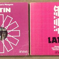 Libros de segunda mano: LATÍN 2º Y 3º BACHILLERATO. VV.AA. EDICIONES ANAYA 1981 Y 1977. LOTE 2 LIBROS.. Lote 248202050