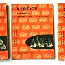Libros de segunda mano: MATEMÁTICAS PUNTO, VÉRTICE Y CENTRO / EDUARDO GARCÍA RODEJA / ED. VICENS VIVES EN BARCELONA 1970. Lote 20187343