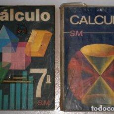 Libros de segunda mano: CÁLCULO 7º Y 8º EGB POR JACINTO MARTÍNEZ Y OTROS DE EDICIONES SM EN MADRID 1973. Lote 251364400