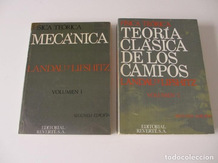 TEORÍA CLÁSICA DE LOS CAMPOS. MECÁNICA. VOL 1 Y 2. LANDAU Y LIFSHITZ. FÍSICA TEÓRICA. REVERTÉ S. A (Libros de Segunda Mano - Libros de Texto )