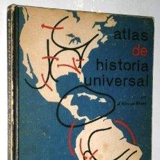 Libros de segunda mano: ATLAS DE HISTORIA UNIVERSAL POR JAUME VICENS VIVES DE ED. TEIDE EN BARCELONA 1968 8ª EDICIÓN. Lote 252392095