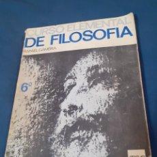 Libros de segunda mano: LIBRO ELEMENTOS DE FILOSOFIA 6ºCURSO. Lote 253042295