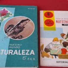 Libri di seconda mano: NUESTRO MUNDO NATURALEZA 6 CURSO + FICHASDE TRABAJO. . ALVAREZ .EDITORIAL MIÑON.. Lote 253521125