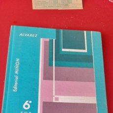 Libri di seconda mano: NUEVA MATEMÁTICA, 6 E.G.B. ALVAREZ , EDITORIAL MILON, 1974.. Lote 253527230