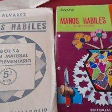 Libri di seconda mano: MANOS HABILES ,FORMACIÓN PRETECNOLOGICA, + BOLSA MATERIAL COMPLEMENTARIO, ALVAREZ, 1972 ,5 CURSO... Lote 253543515